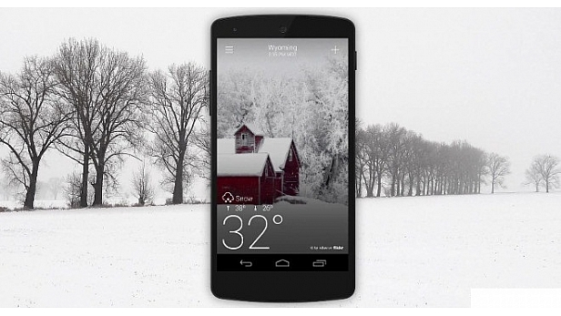 Yahoo Weather app on Android now with animated effects